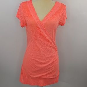 Vanity Space-Dyed Wrap Tee Size Medium NWT